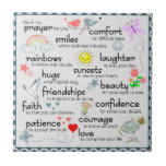 My Prayer For You Small Square Tile