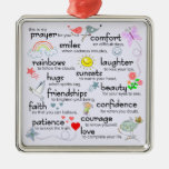 My Prayer For You Square Metal Christmas Ornament