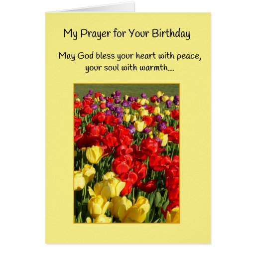 My Prayer For Your Birthday Greeting Card
