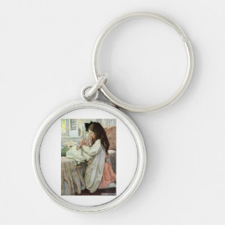 My Precious Dolly Silver-Colored Round Keychain