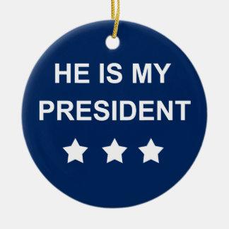 My president ceramic ornament