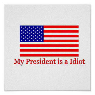 My President is a Idiot Poster