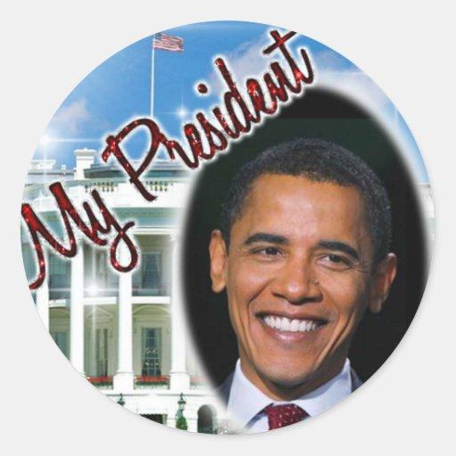 my_president_obama etiquetas redondas