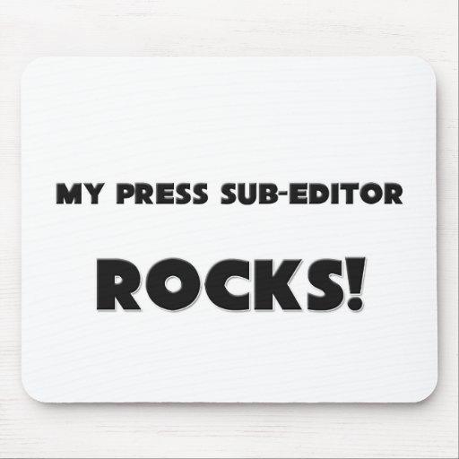 MY Press Sub-Editor ROCKS! Mouse Mats
