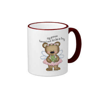 ♥ my prince turned out to be a frog ♥girly giggles ringer coffee mug
