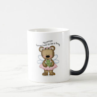 ♥ my prince turned out to be a frog ♥girly giggles 11 oz magic heat Color-Changing coffee mug