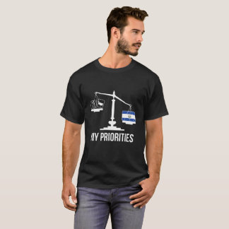 My Priorities El Salvador Tips the Scales Flag T-Shirt