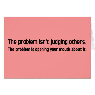 My problem is that you can't keep your mouth shut card