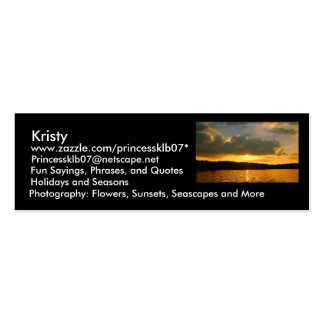 MY Profile Double-Sided Mini Business Cards (Pack Of 20)