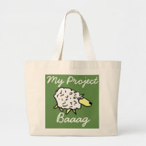 """""""My Project Baaag"""" Sheep Cartoon Project Bag"""