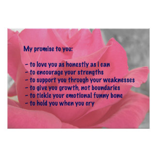 My Promise Affirmation Poster - Pink