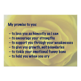 My Promise Affirmation Poster - Yellow