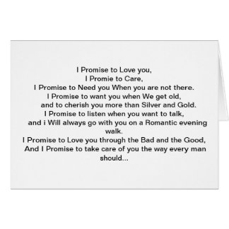 My Promise to You. Card
