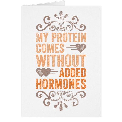 My Protein Comes Without Added Hormones Cards