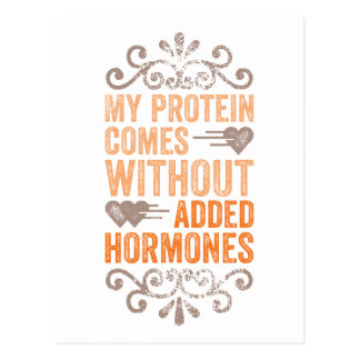 My Protein Comes Without Added Hormones Postcard