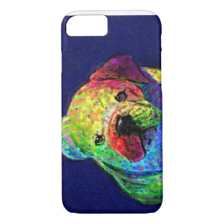 my psychedelic bulldog iPhone 7 case