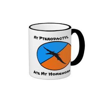 My Pterodactyl ate my homework Mugs