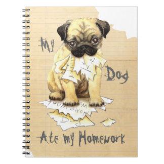 My Pug Ate My Homework Spiral Notebook