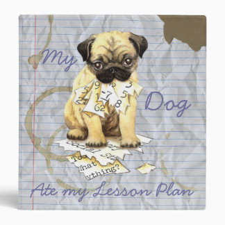 My Pug Ate My Lesson Plan 3 Ring Binder