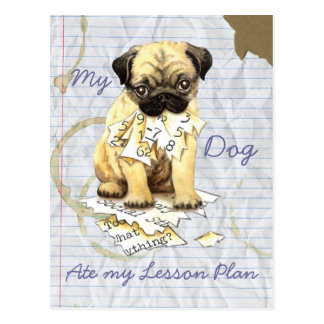 My Pug Ate My Lesson Plan Post Cards