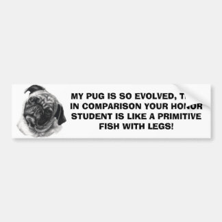 MY PUG by nicola Bumper Sticker