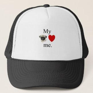 My pug loves me trucker hat