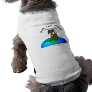 My Puppy Lives Here Pet T-shirt
