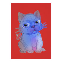 My Purple Vanda Cat Pet Card