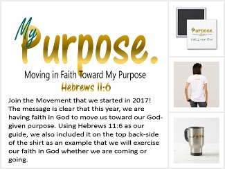 My Purpose Moving In Faith Toward My Purpose