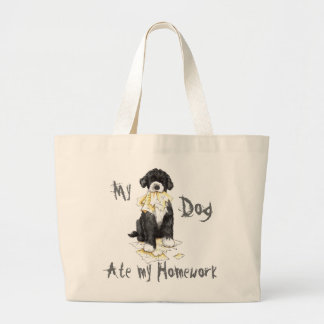My PWD Ate My Homework Large Tote Bag