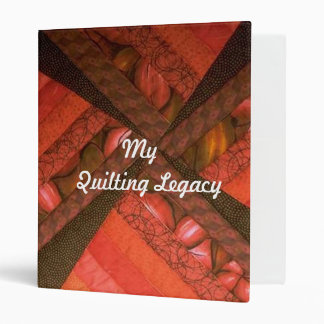 My Quilting Legacy 3 Ring Binder