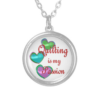 My Quilting Passion Personalized Necklace