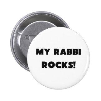 MY Rabbi ROCKS! 2 Inch Round Button