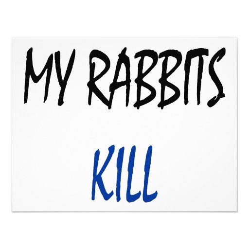 My Rabbits Kill Custom Invites