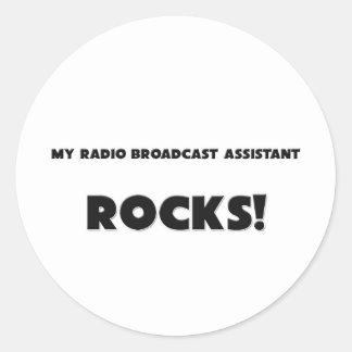MY Radio Broadcast Assistant ROCKS! Round Stickers