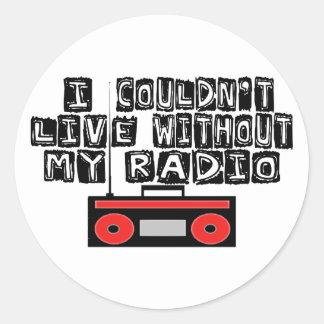 My Radio Classic Round Sticker