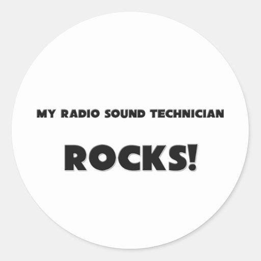 MY Radio Sound Technician ROCKS! Classic Round Sticker