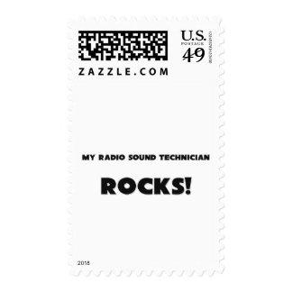 MY Radio Sound Technician ROCKS! Postage Stamps