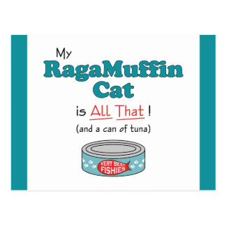 My RagaMuffin Cat is All That Funny Kitty Post Card