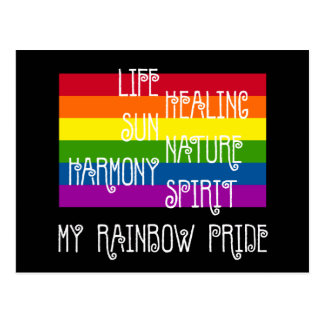 My Rainbow Pride Black Postcard