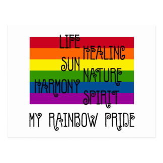 My Rainbow Pride White Postcard