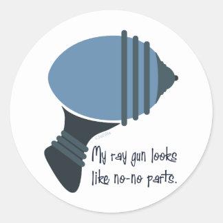 My Ray Gun Looks Like No-No Parts Sticker