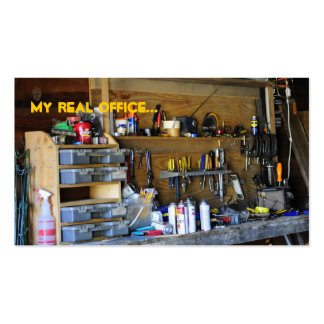 My real office... Double-Sided standard business cards (Pack of 100)