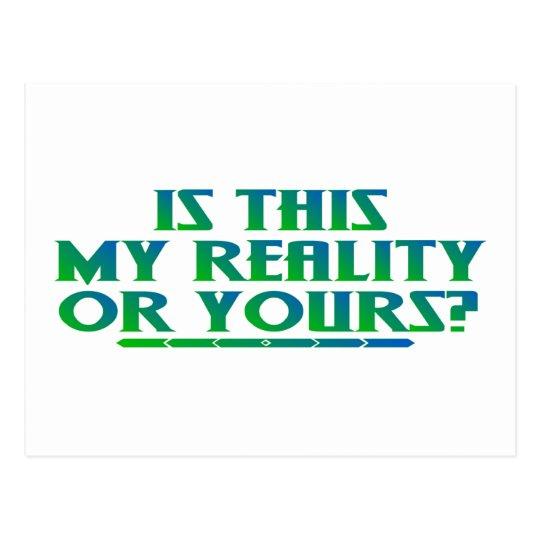 My Reality Postcard