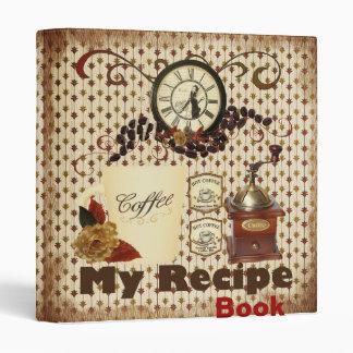 my recipe book binder