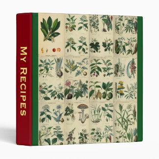 My Recipes ~ Illustrated Flora 3 Ring Binder