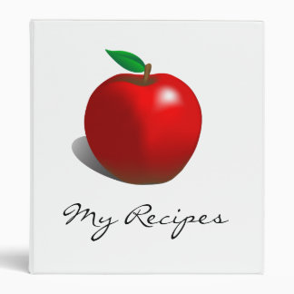 My Recipes Red Apple Cook Book Binder