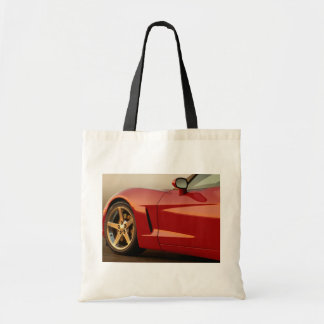 My Red Corvette Budget Tote Bag