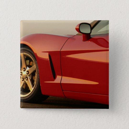 My Red Corvette Button