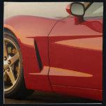 "My Red Corvette Cloth Napkin<br><div class=""desc"">beautiful Red Corvette</div>"